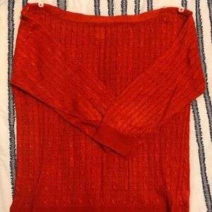 J. Crew Linen Cable knit Sweater